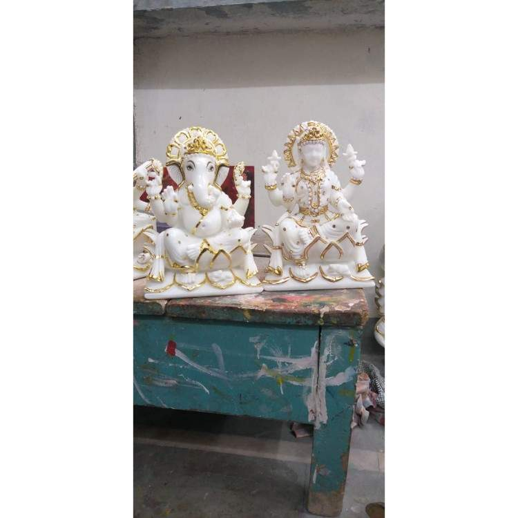 Ganesh and saraswati murti